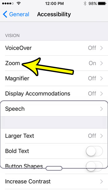 how to disable zoom on the iphone se