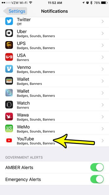 remove the red circle with the number on youtube iphone