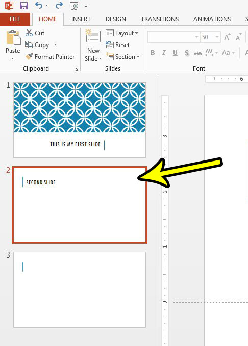 How to Add a Formatted Slide to Your Slideshow in Powerpoint 2013