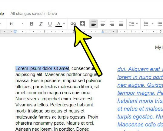 adding hyperlinks google docs