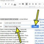 how to insert a link in google docs