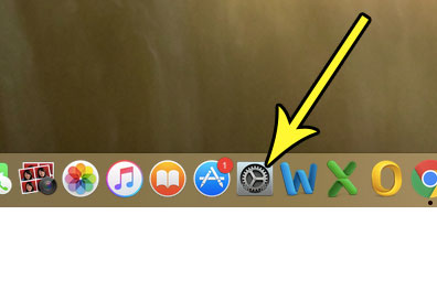 open system preferences on the macbook air