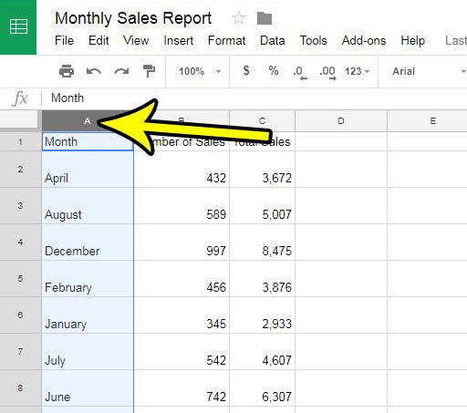how to remove a column from google sheets
