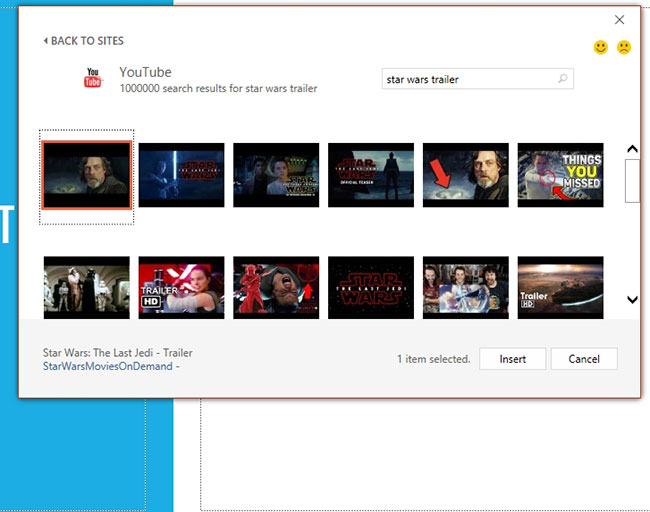 how to embed youtube video in powerpoint 2016