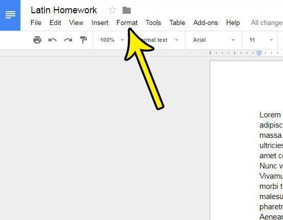 how to remove a column in google docs