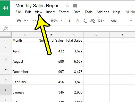 how to view google sheets formulas