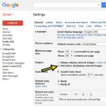 how to stop displaying external images in gmail