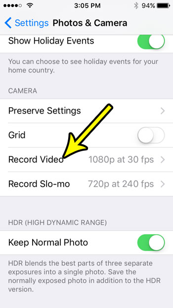 iphone se video recording resolution