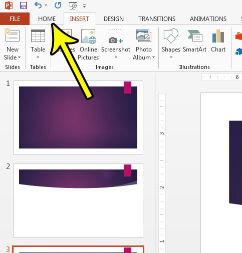 how to create a powerpoint section