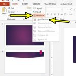 how to add a section in powerpoint 2013