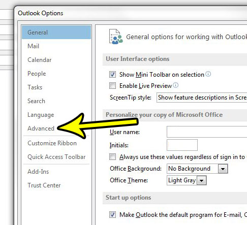 how to turn off reminder sound in outlook 2013