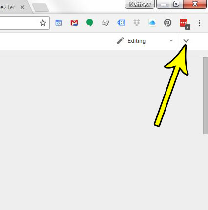how to show the menu bar in google docs