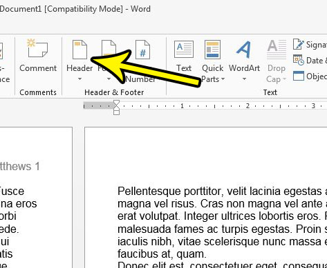 how to delete everything from the header in word 2013