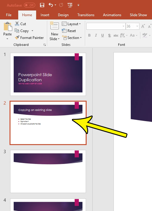how to make a copy of whole slide in powerpoint 2016