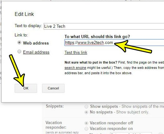 how to add a hyperlink to a signature in gmail