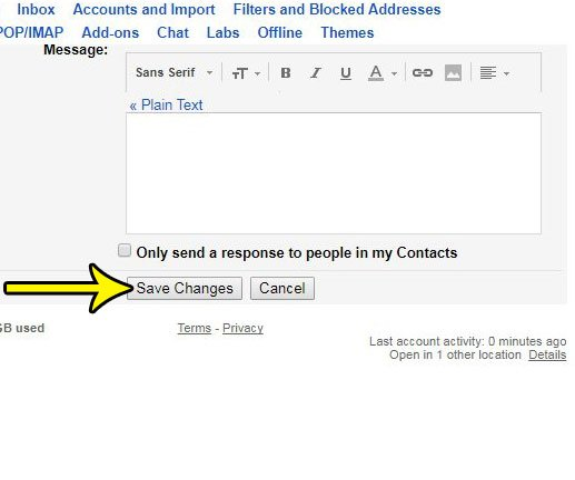 how to enable the arrows next to emails in gmail