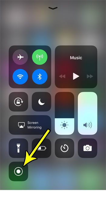 how to screen recording iphone
