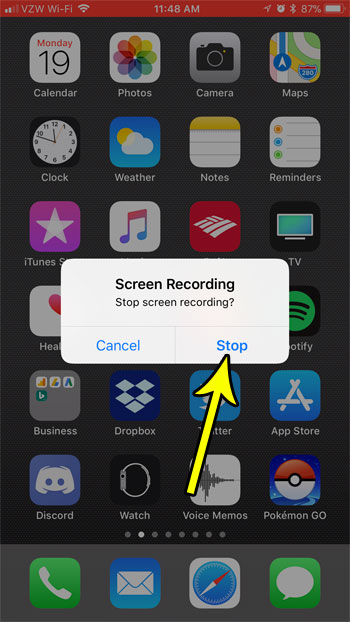 can i record a video of my screen on an iphone 7