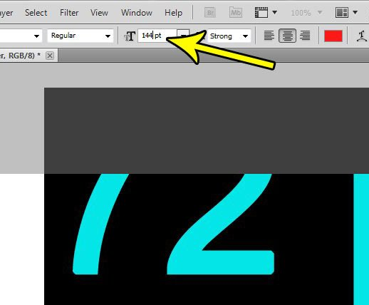 how to use bigger font sizes in photoshop