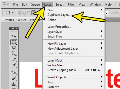 how to duplicate a layer in photoshop