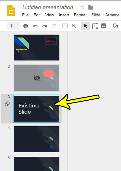 slide duplication in google slides
