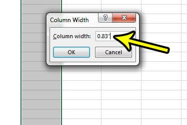 how to set excel column width and row height in inches