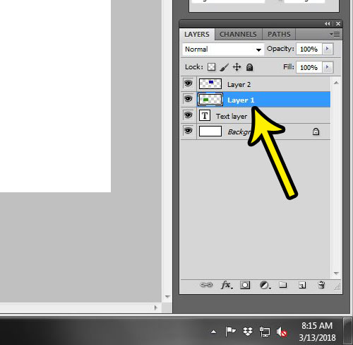 hiding layers in photoshop