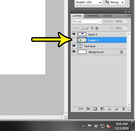 how to hide a layer in photoshop cs5