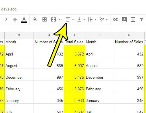 move data to center of cell in google sheets