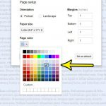 how to change page color in google docs