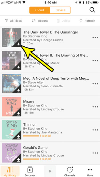 how download audible book iphone