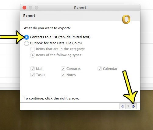 export outlook mac contacts