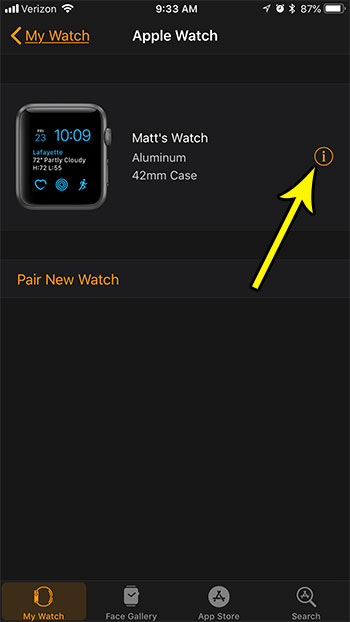 play sound on apple watch to find it