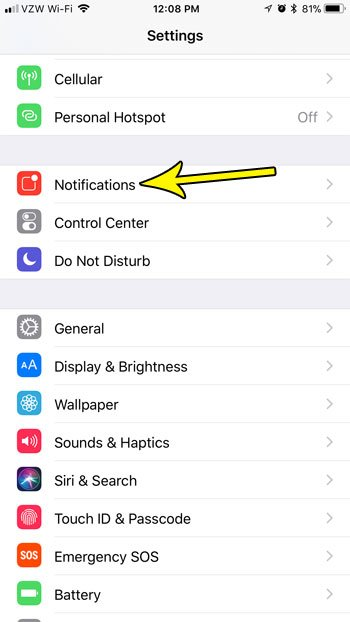 how hide notification information on iphone