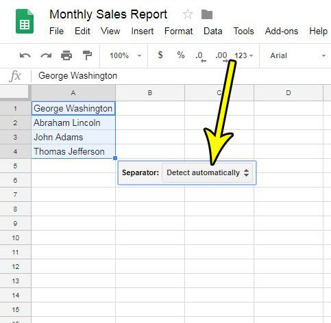 how to split first name and last name in google sheets