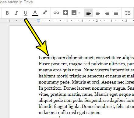How to Draw a Line Through Text in Google Docs - Live2Tech