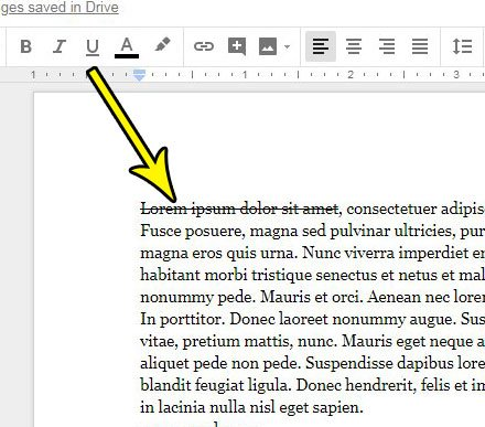 google docs strikethrough text