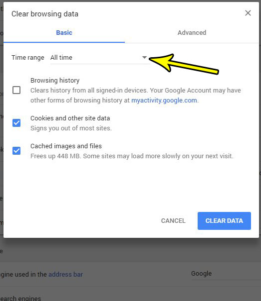 How to Clear Browsing Data in Google Chrome - Live2Tech