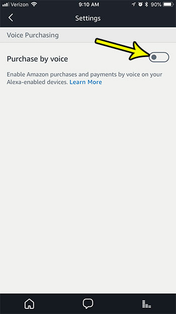 how to disable voice purchasing amazon alexa iphone