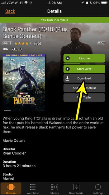 download prime video movie iphone