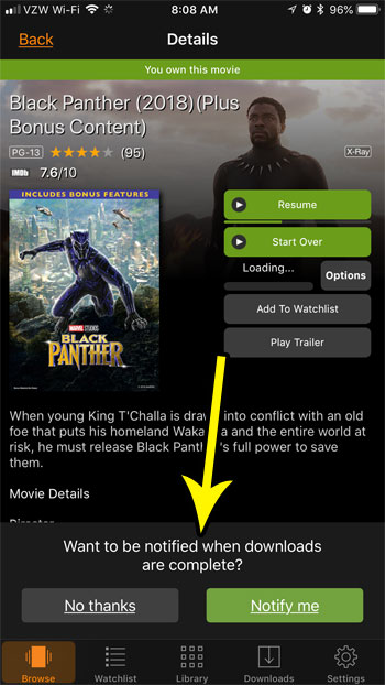 how download movie amazon iphone