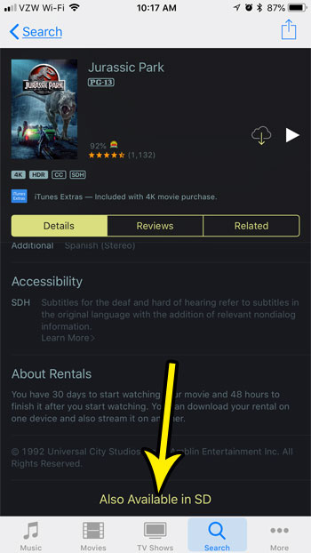 How to Download the SD Version of a Movie You Own in iTunes on Your