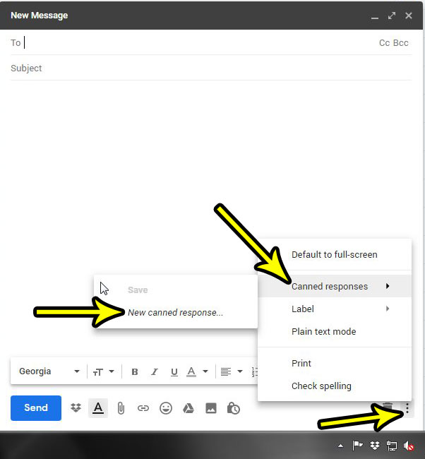 how to use canned responses in gmail