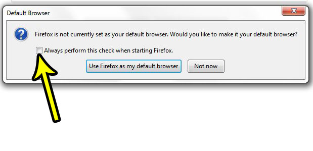 how disable firefox default pop up