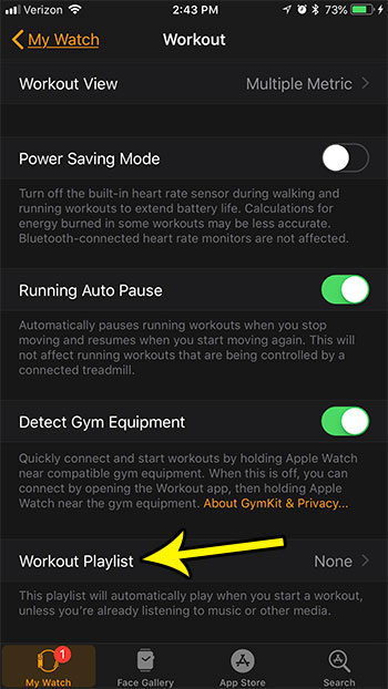 how change workout playlist apple watch