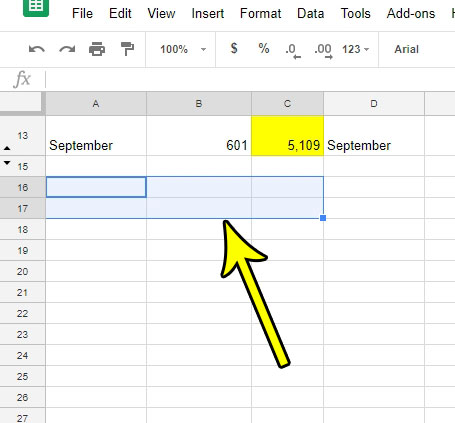 select cells to merge in google sheets