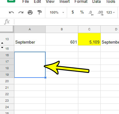 how to merge cells vertically in google sheets
