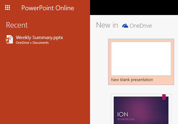 powerpoint online view slideshow