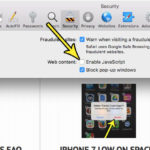 how to disable javascript in safari on a macbook