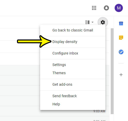 new gmail compact view
